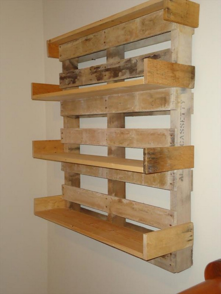 Its Easy To Create Wooden Pallet Shelves Pallet Wood Projects