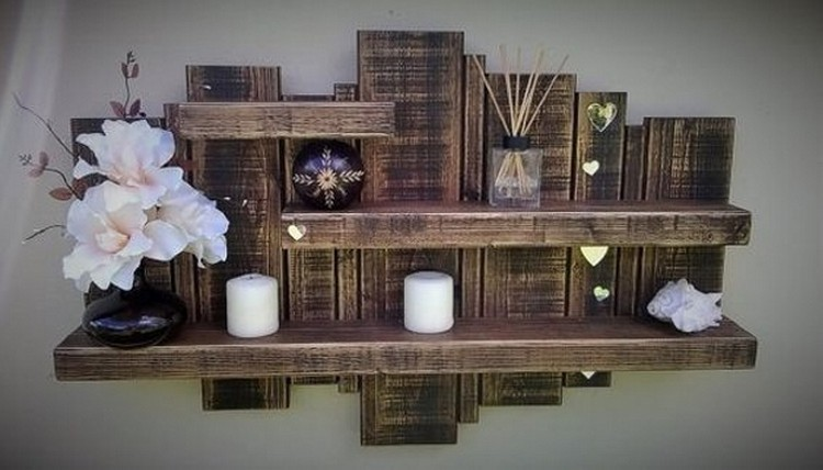 Its Easy To Create Wooden Pallet Shelves | Pallet Wood Projects