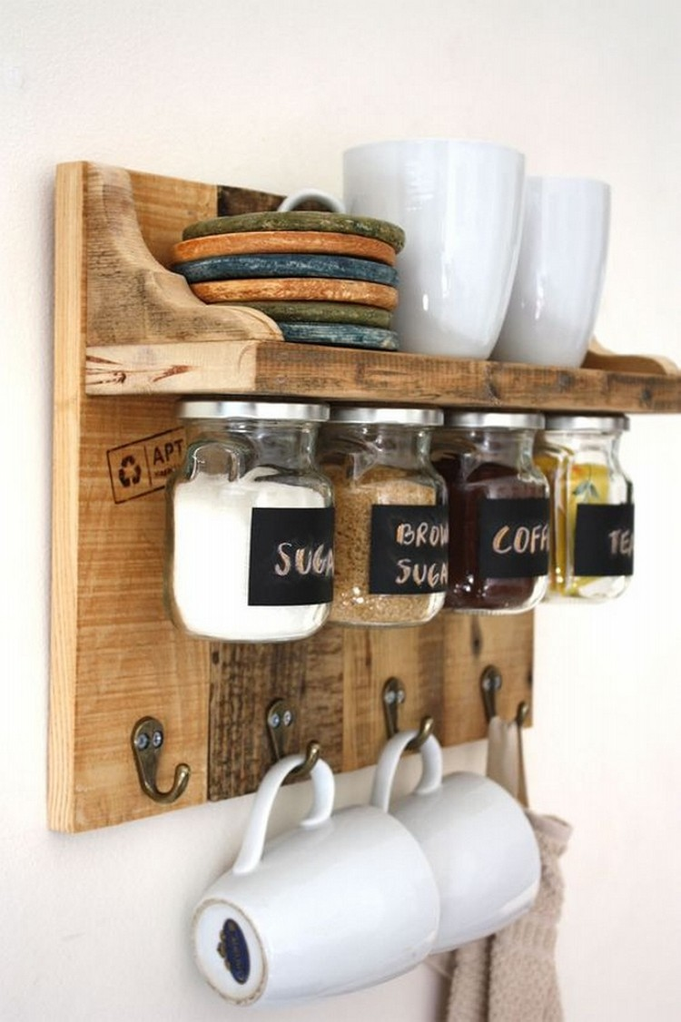Wood Pallet Spice Rack Shelf Pallet Wood Projects