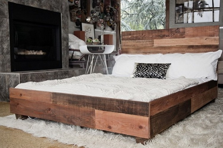 Diy recycled pallet bed ideas wood projects