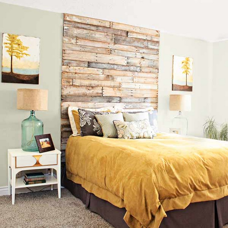 Surprising ways to use the pallets wood pallet wood projects - Floor to ceiling headboard ...
