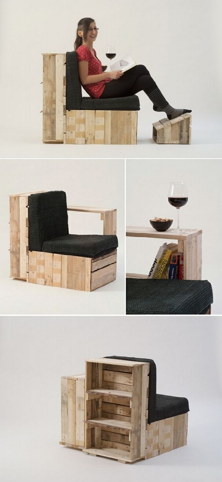 Multipurpose Wood Pallet Chair