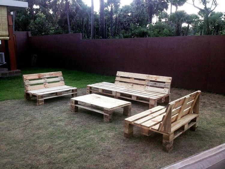 Garden Furniture From Wooden Pallets outdoor furniture ideas made with wood pallets | pallet wood projects