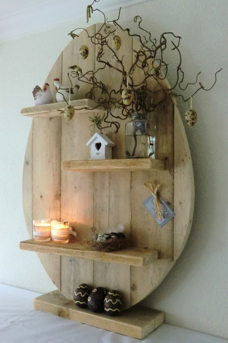 Pallet Heart Shape Shelf