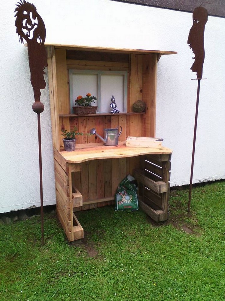 Amazing wood pallet garden furniture ideas pallet wood projects