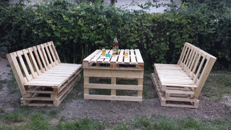 Garden Furniture Using Pallets outdoor furniture ideas made with wood pallets | pallet wood projects