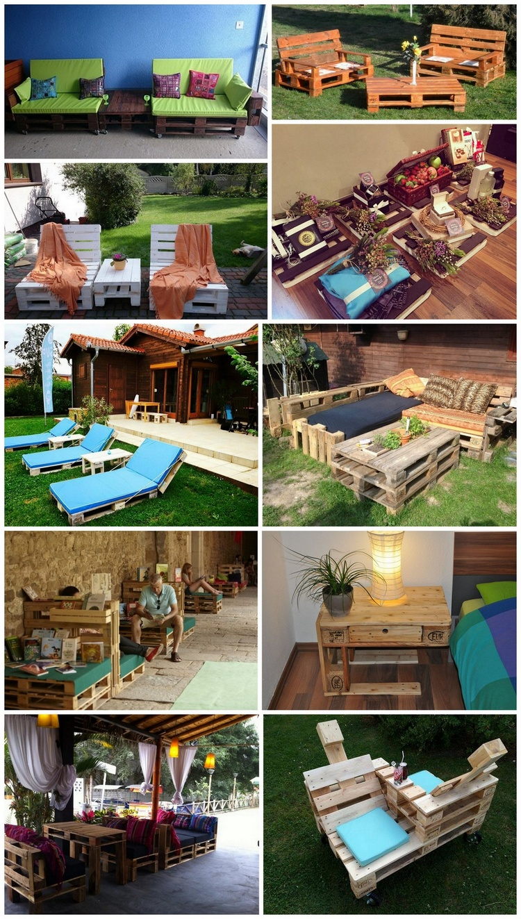 Awesome Ways of Turning Shipping Pallets into Unique Pieces of Furniture
