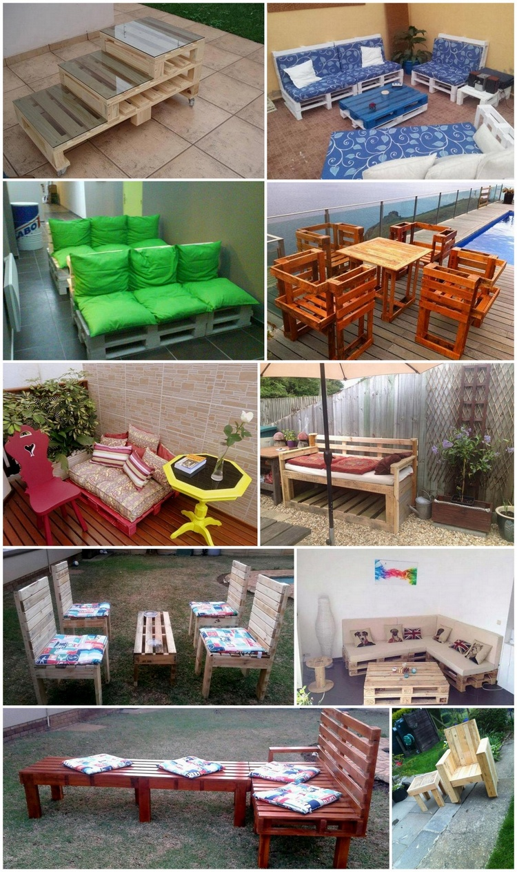 Creative DIY Outdoor Pallet Furniture Ideas | Pallet Wood ...