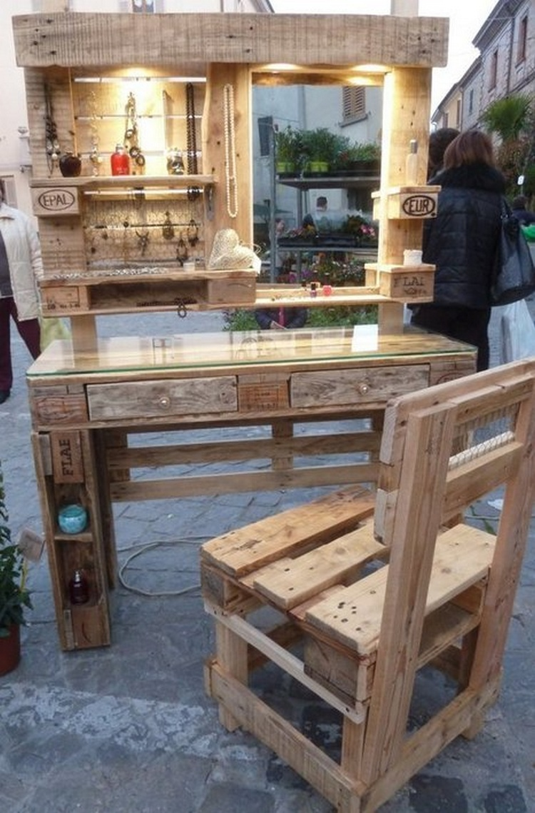 Cheap easy and creative recycled pallet ideas that will for Palette table de jardin