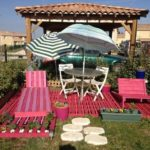 Pallet Garden Deck with Furniture