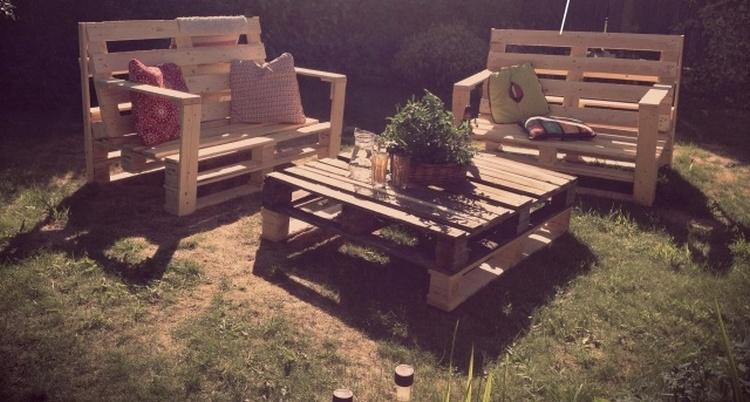 Pallet Garden Furniture Plan