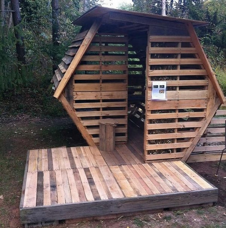 Pallet Wood Garden Shed : Repurposed wood pallet projects