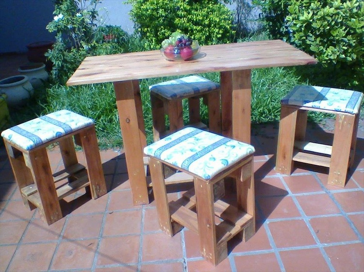 Pallet Table and Stool Sets