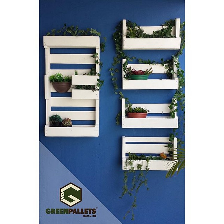 Pallet Wall Shelf Planters