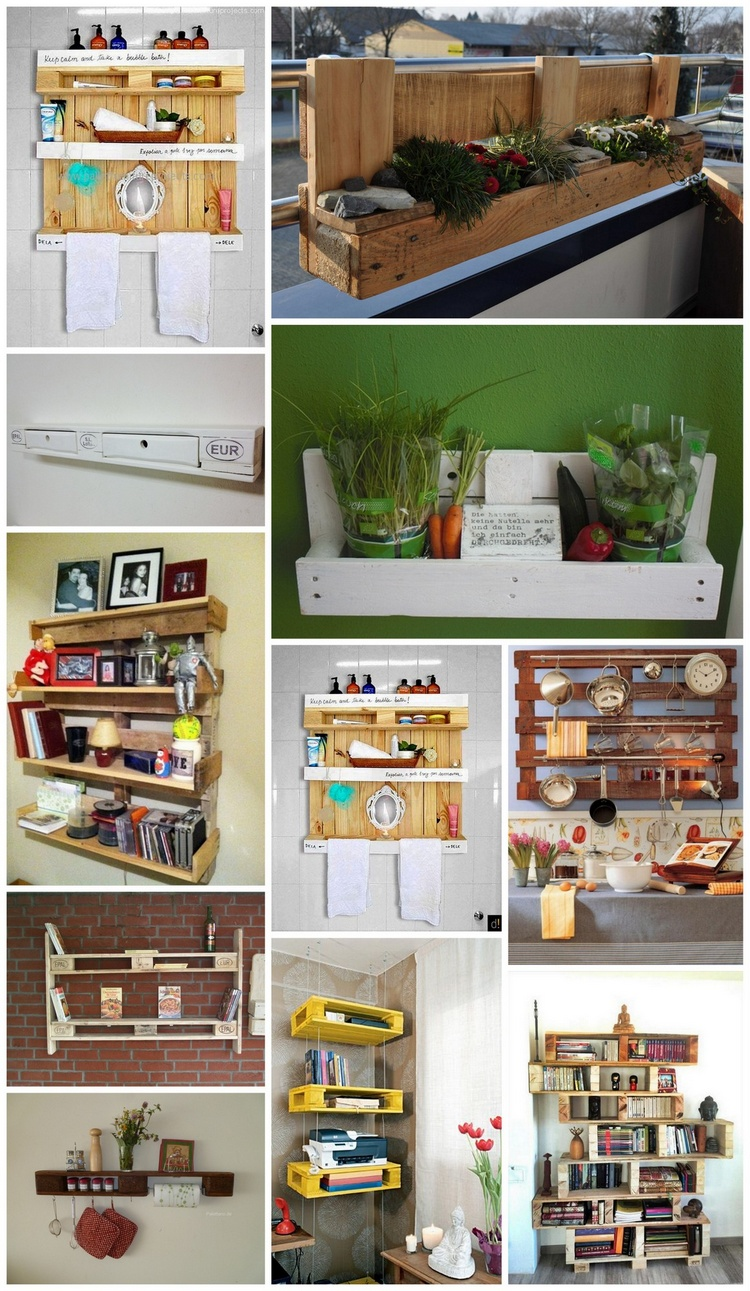 Shelves Made with Recycled Wood Pallets