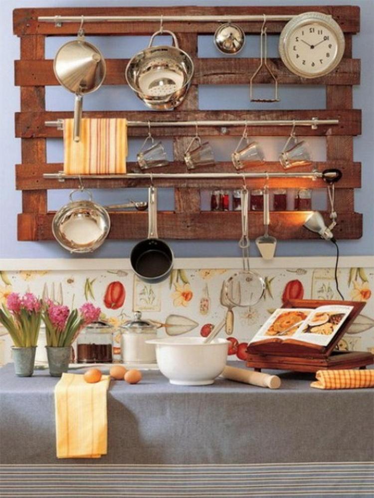 Wooden Pallet Kitchen Shelf