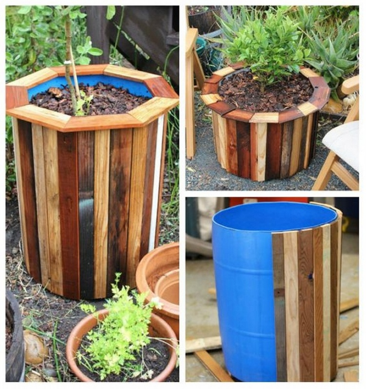 Brilliant wood pallet planter ideas pallet wood projects for Making planters from pallets