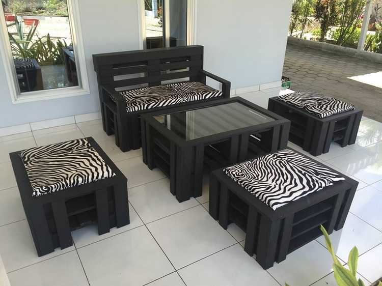 Cute Pallet Furniture Set