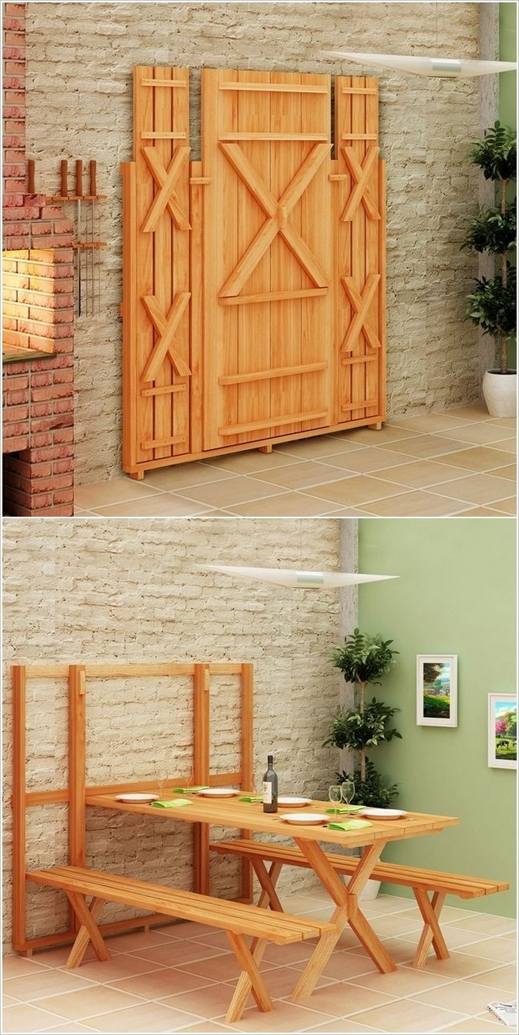 Flodable Wood Pallet Furniture
