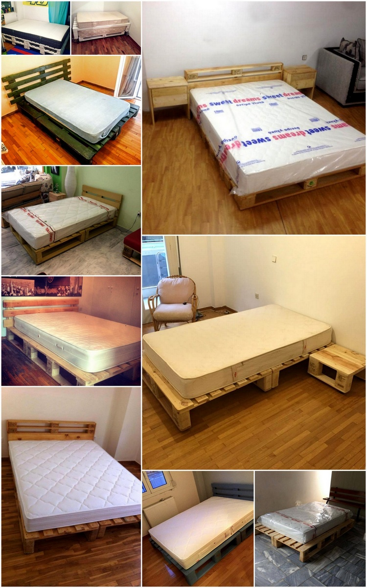 Ideas about Pallet Bed Frames