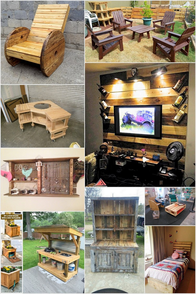 Interesting Useful DIY Project Ideas on How to Use Old Pallets