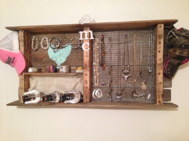 Jewelry Organizer Made from Recycled Pallets