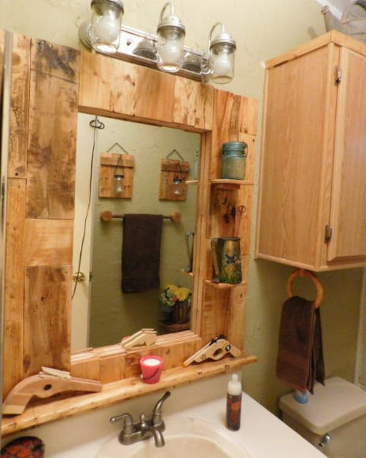 Pallet Bathroom Makeover