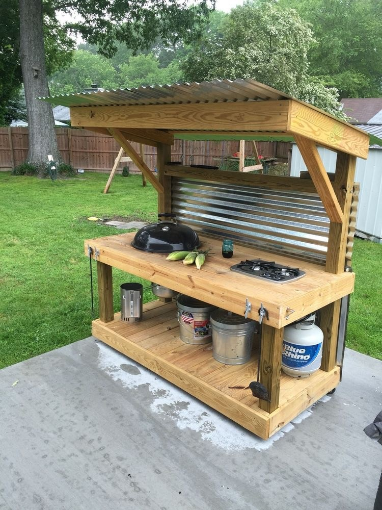 Interesting useful diy project ideas on how to use old for Easy outdoor kitchen designs