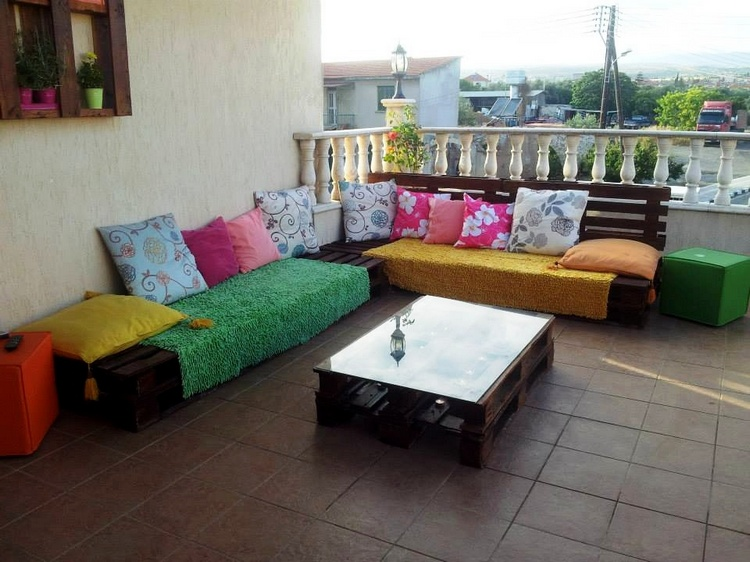 Pallet Terrace Sitting Set