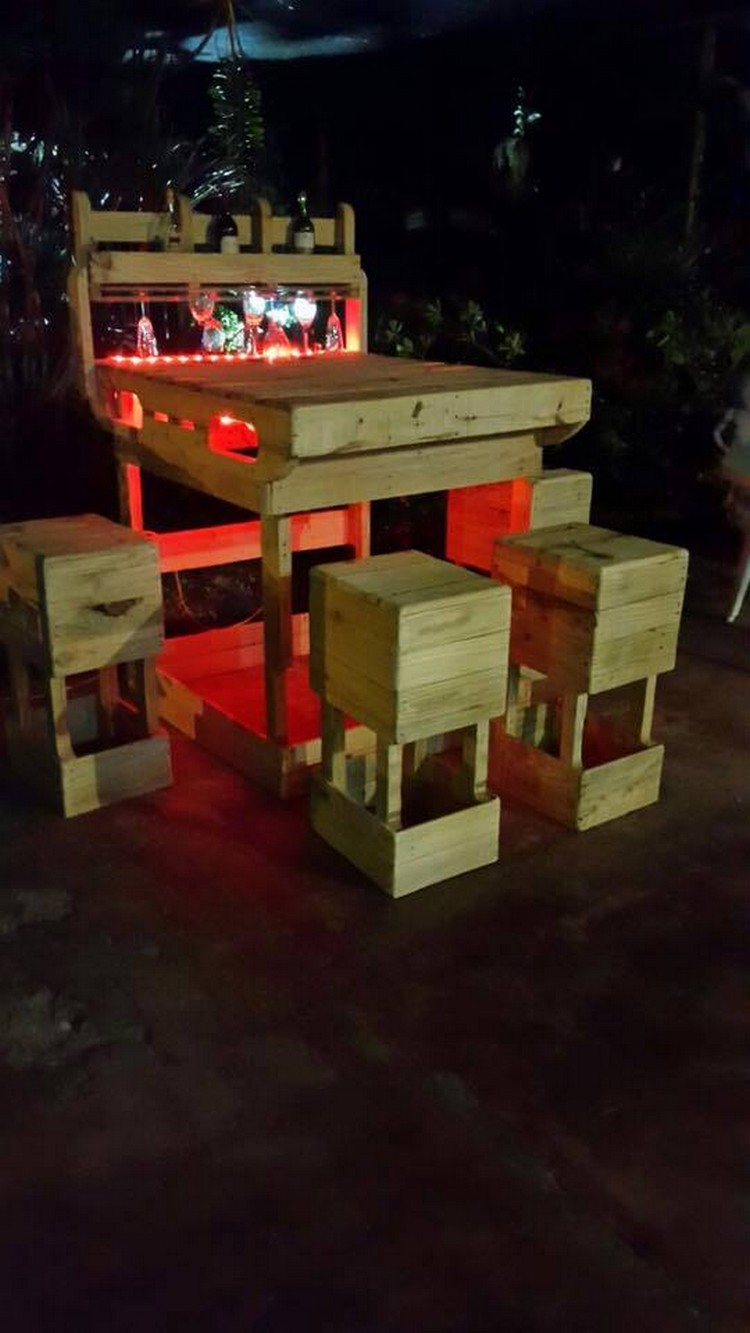 Pallet Wine Bar Idea