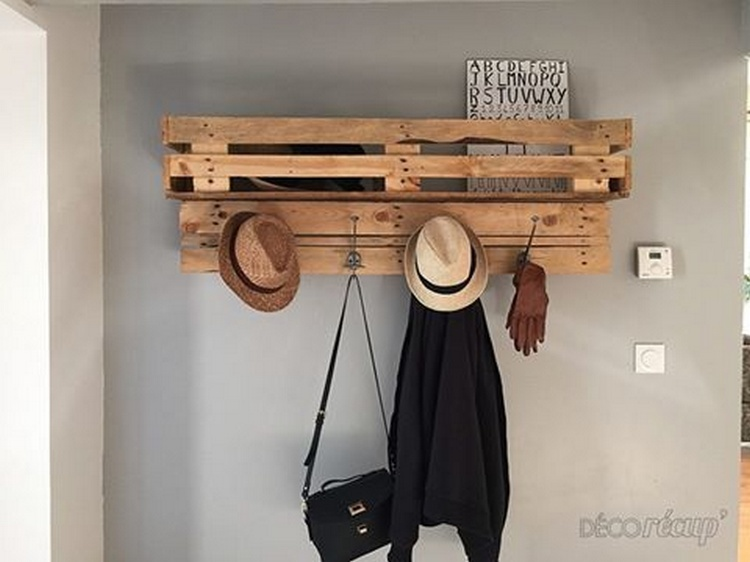 Pallet Wood Shelf or Coat Rack