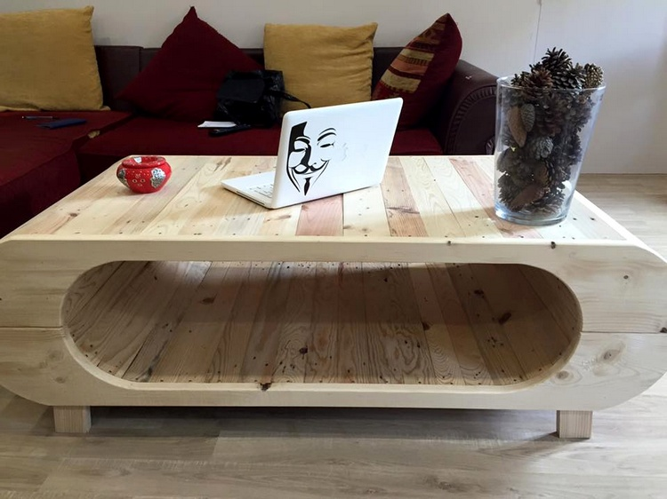 Unique Pallet Art Style Table