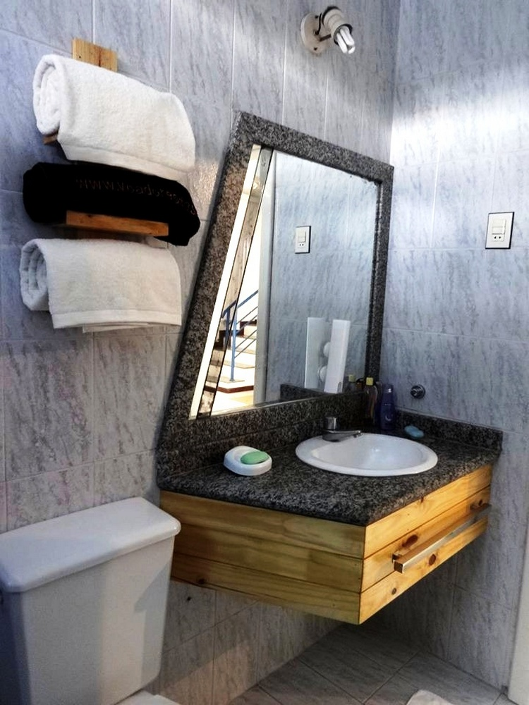Wall Mounted Pallet Bathroom Vanity + Towel Rack