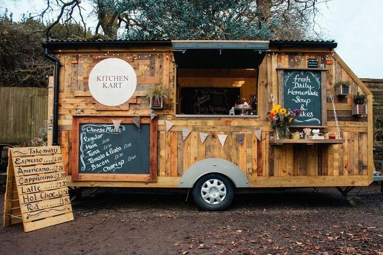 Wood Pallet Mobile Kitchen Kart