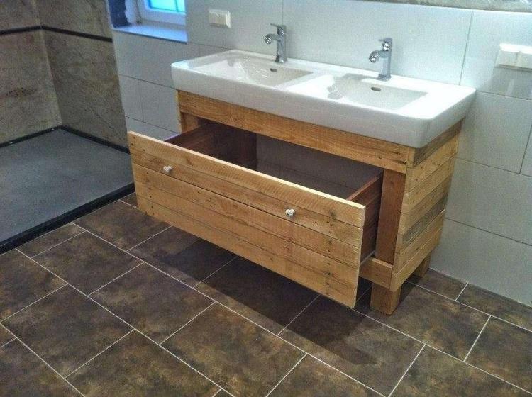 Wooden Pallet Bathroom Sink