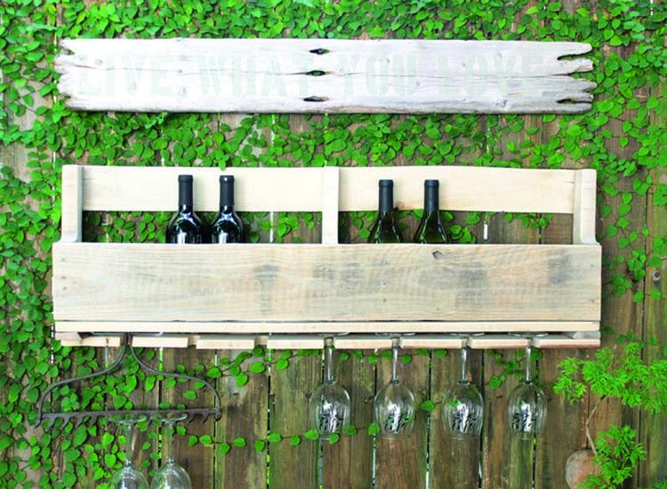Wooden Pallet Wine Rack