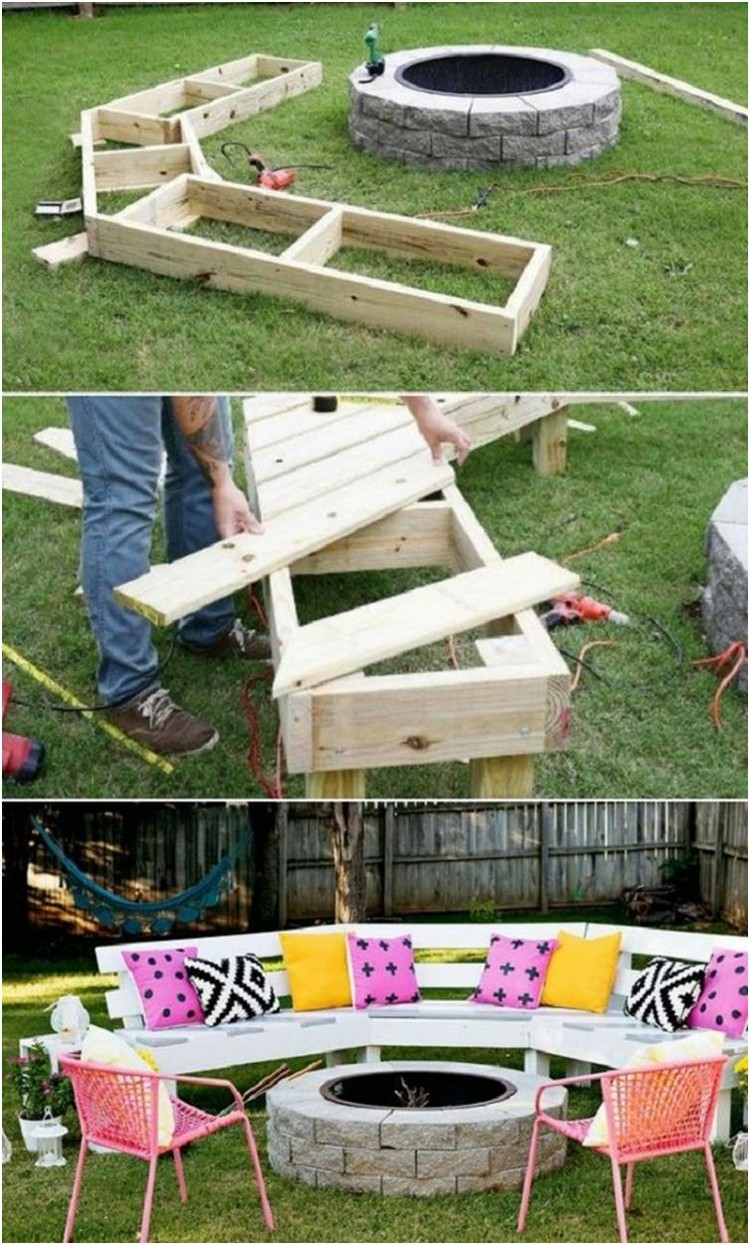 DIY Wood Pallet Garden Bench