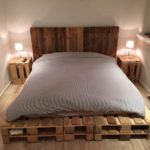 King Size Pallet Bed with Side Tables