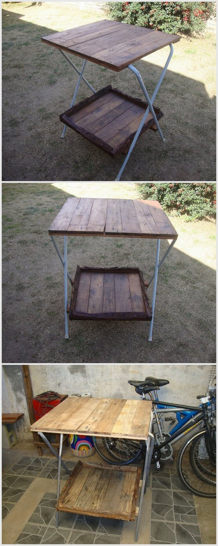Old Wood Pallet Table
