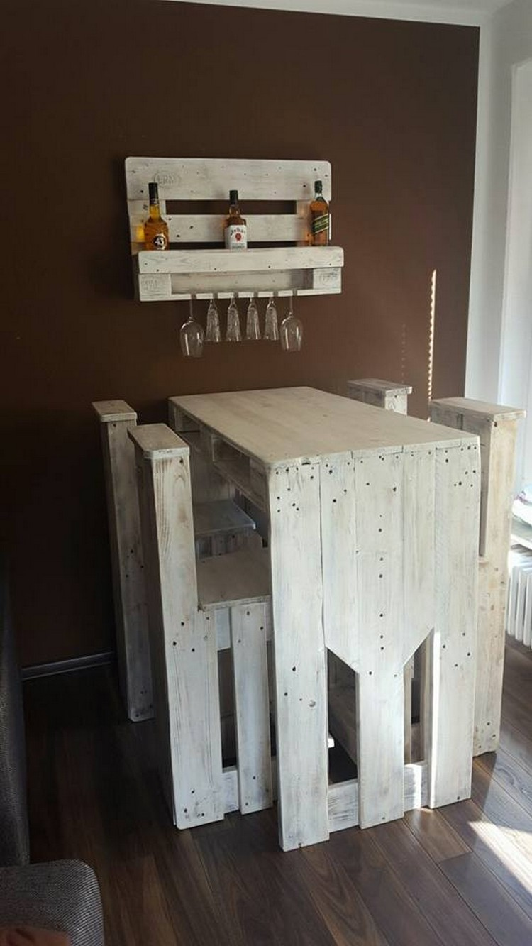 Pallet Bar Furniture and Wine Rack