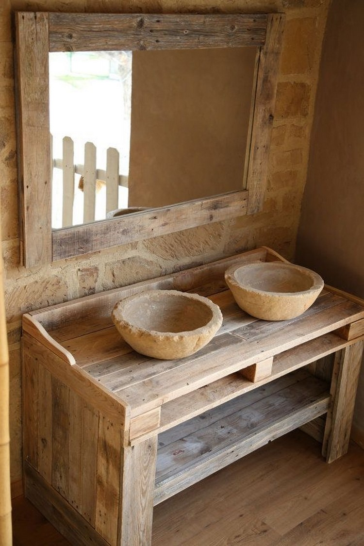 Some perfect ideas about reuse wooden pallets pallet for Salle de bain en bois de palette