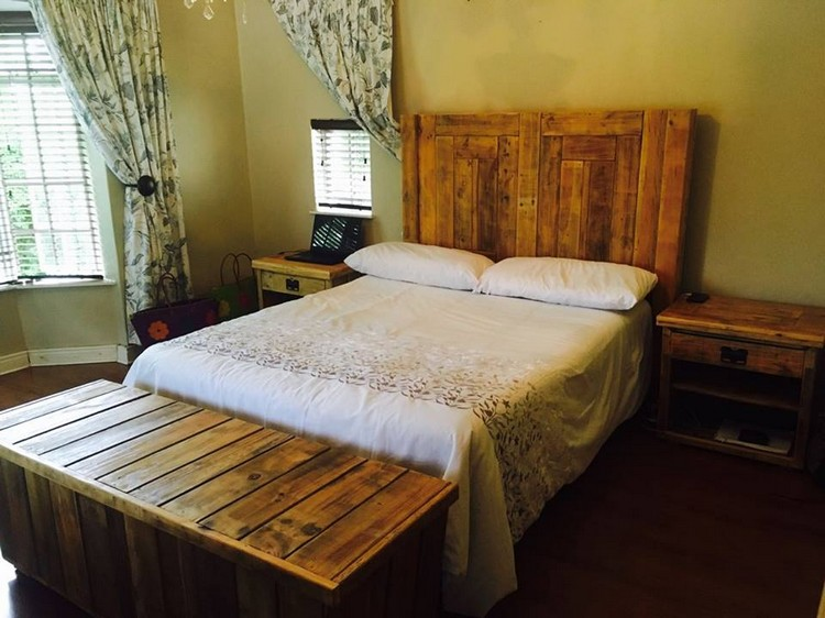 Pallet Bed with Headboard and Storage