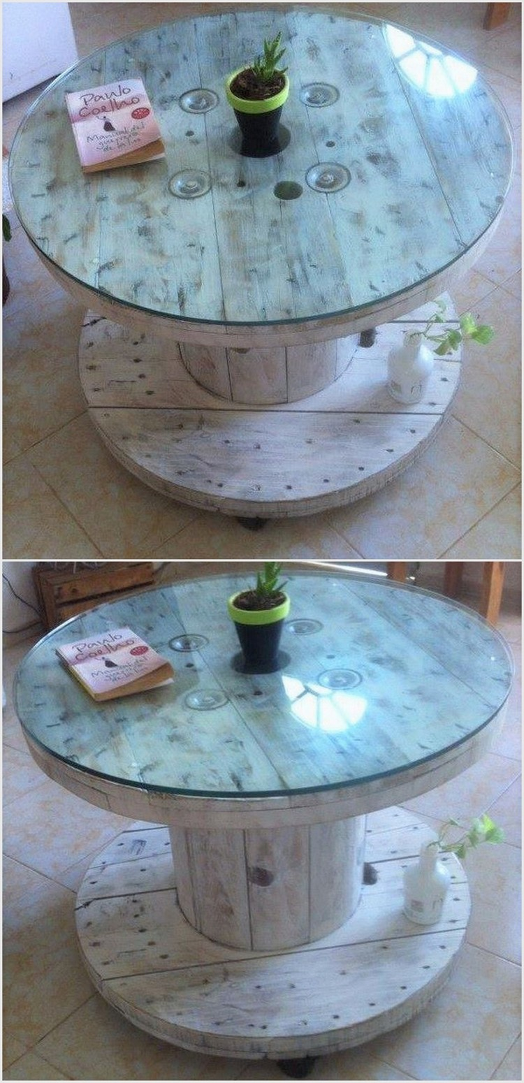 Pallet Cable Spool Table