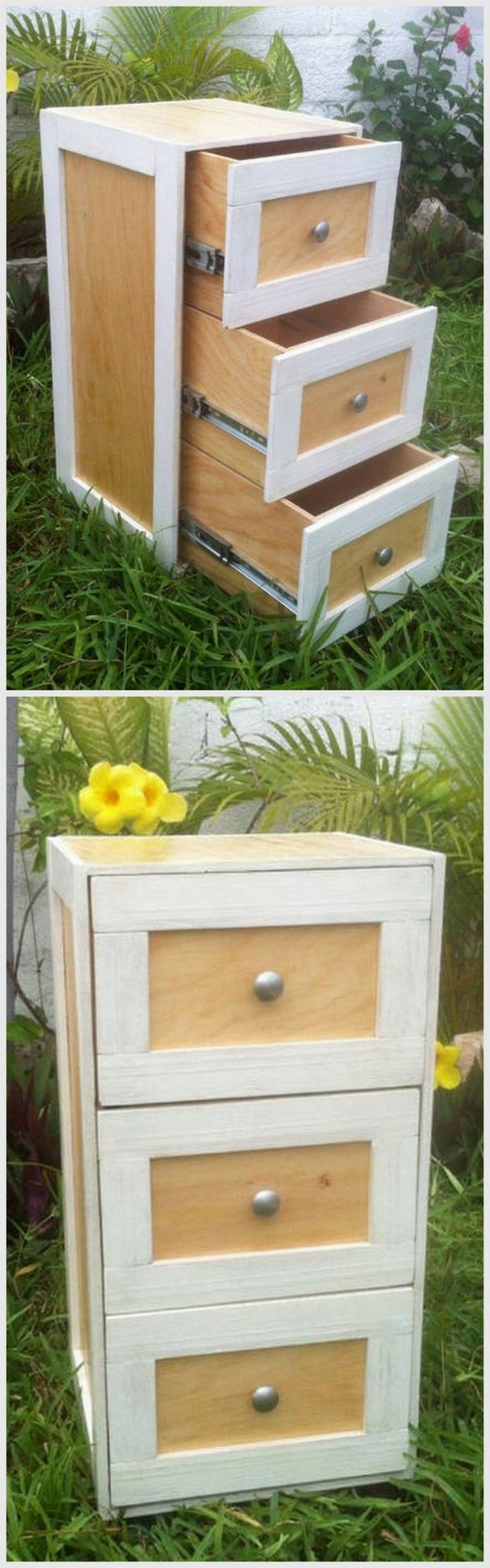 Pallet Chest with Drawers