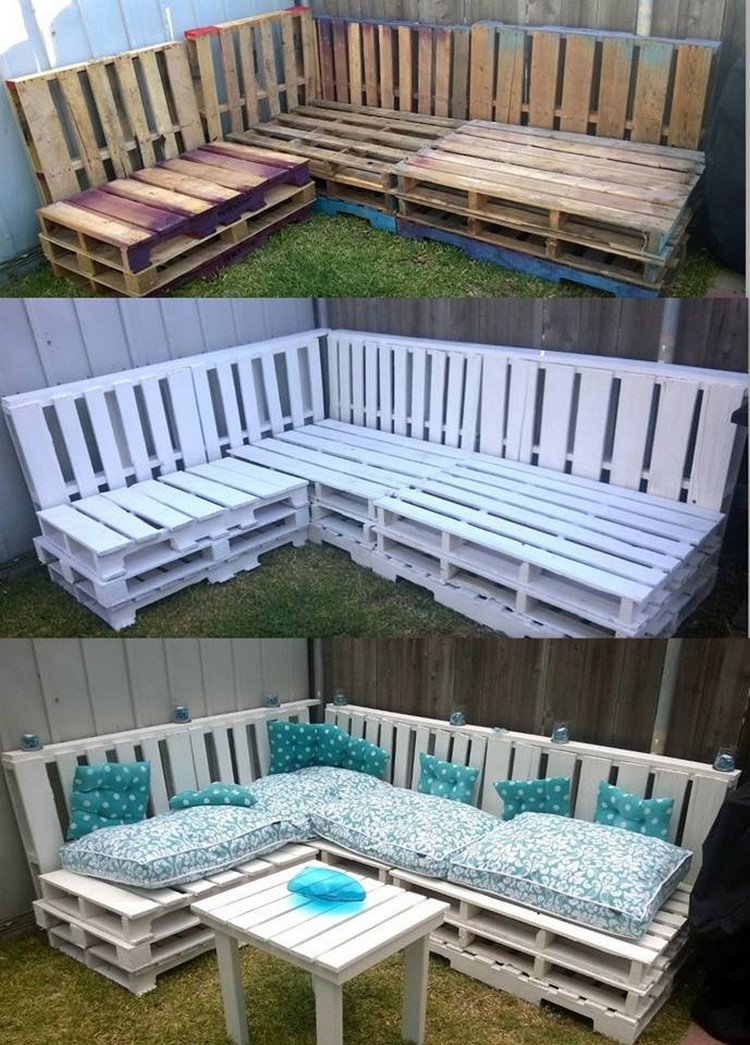 Pallet Corner Couch for Indoor and Outdoor