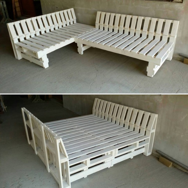 Pallet Couch and Bed