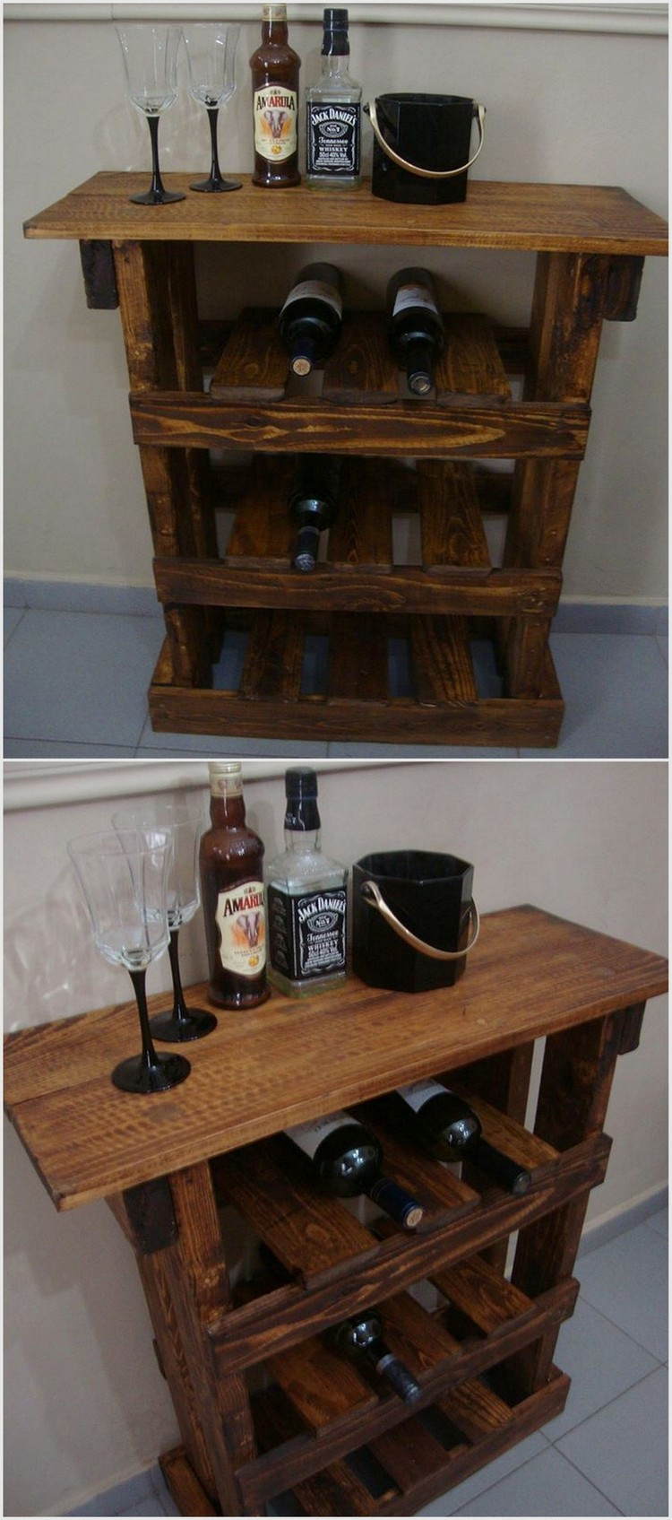 Pallet Wine Rack Table