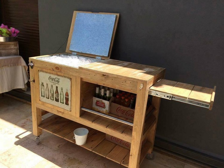 Recycled Wood Pallet Cooler