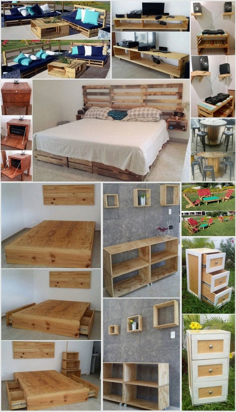 Recycling ideas with old shipping pallets pallet wood for What can you make with recycled pallets