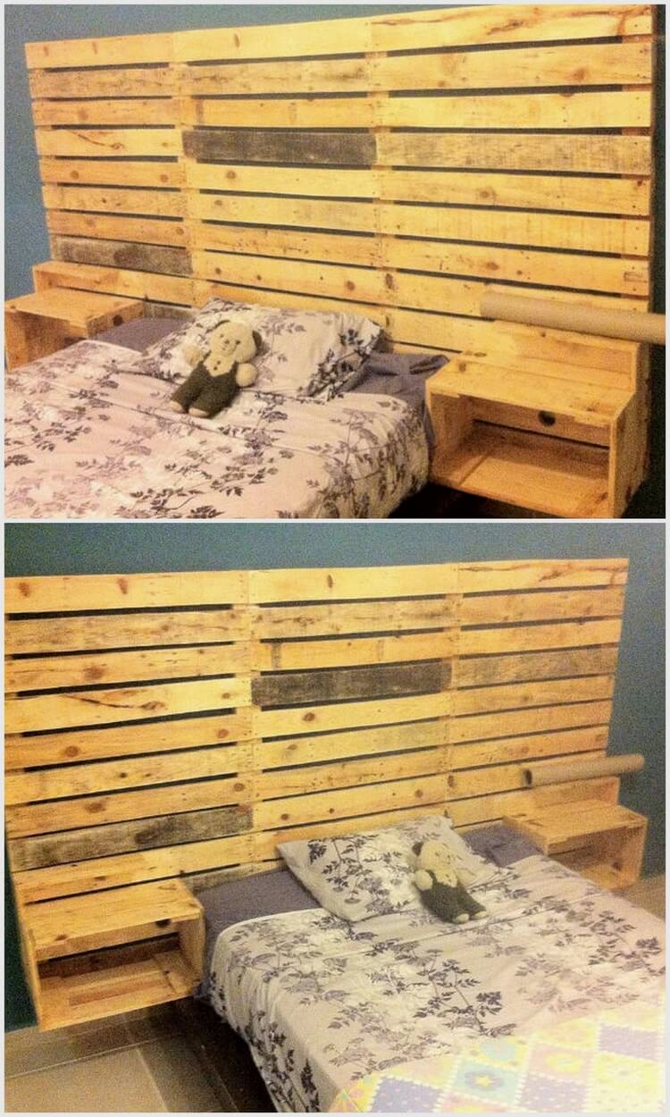 Wood Pallet Bed Headboard